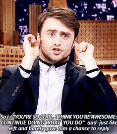 That time Dan showed just how much he loves American football.   The 21 Best Daniel Radcliffe Moments Of 2014