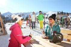 Aufnahme beim Grießenkarhaus im snow space Flachau mit Blick aufs Grießenkar  at the Grießenkarhaus in snow space Flachau