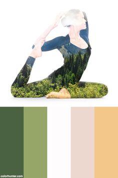 Yoga, Double Exposure Color Scheme