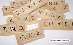Scrabble Table Numbers - Wedding, Banquet, Party, Reunion