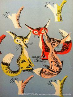 1960s SKULK of CRAFTY FOXES Ideal for by sandshoevintagebooks, $9.00