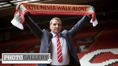 The new Liverpool Manager, Brendan Rodgers ready to lead.