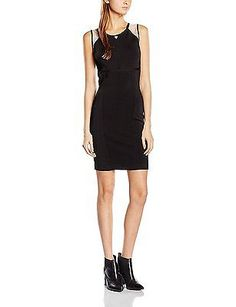 Medium, Negro (NOIR/Jet Black A996), Guess Women's Thuy Dress Sleeveless Cover U