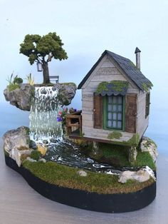 Magic falls fairy house diorama enchanting diy vertical planter 50 beautiful gnome garden and fairy garden design ideas diy fairy gardening gardentine com nbspgardentine resources and information Indoor Fairy Gardens, Mini Fairy Garden, Fairy Garden Houses, Gnome Garden, Miniature Fairy Gardens, Garden Art, Garden Design, Fairy Gardening, Small Gardens