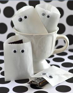 la decoración de mis mesas: Ideas para Halloween: Bolsas para chuches