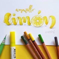 Si lo puedes imaginar lo puedes dibujar! #amarillo #amarillolimon #lemonyellow #handlettering #lettering #retorainbow2 #calligraphy #moderncalligraphy #illustration #brushpen #typography #type