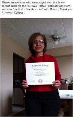 Ghada graduated from our Medial Office Assistant Training Program.    Visit Ashworth College Reviews to see more student success stories!  http://www.ashworthcollege.edu/why-ashworth/success-stories