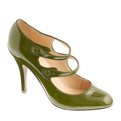 olive :: patent Mary Janes by J. Crew
