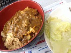 No.25 ざっつ豆根菜きのこ豚ひき肉鶏肉余りもの適当カレー!