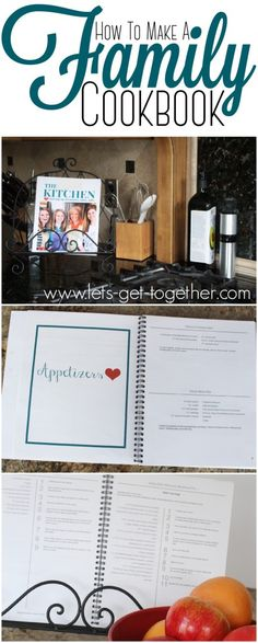How To Make a Family Cookbook from Let's Get Together  #cookbook #gifting