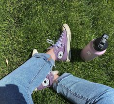 Purple Converse High Tops, Mode Converse, High Top Converse Outfits, Galaxy Converse, Converse Chuck Taylor All Star, Converse Shoes, Colored Converse, Custom Converse, Designer Shoes