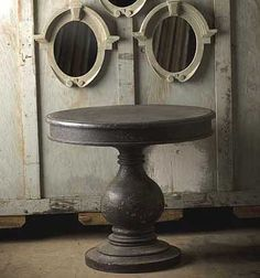 Antiqued Black Round Foyer Table Home Interior Design My House