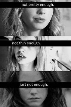 Not enough - Skins UK Effy Stonem (Kaya Scodelario) Mini McGuinness (Freya Mavor) Cassie Ainsworth (Hannah Murray) Cassie Skins, Not Pretty Enough, Freya Mavor, Effy Stonem, Skins Uk, Kaya Scodelario, Mood, How I Feel, Enough Is Enough
