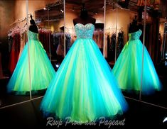 100JP010450458-TURQ/LIME - FABULOUS Combination of Turquoise and Lime! Stunning and ONLY available at Rsvp Prom and Pageant... http://rsvppromandpageant.net/collections/ball-gowns/products/100jp010450458-turq-lime