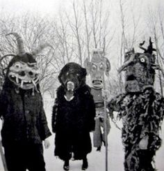 "Masks from the ""Wilde Jagd"" - Christmas folklore tradition in Austria"