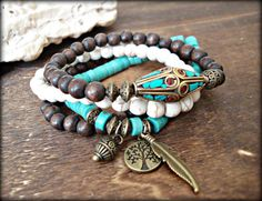 Yoga Bracelet  Yoga Jewelry  Yoga Stack by HandcraftedYoga on Etsy, $44.00