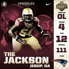 Congratulations Tre Jackson, good luck and God Bless in New England