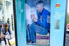 ➰Digital. (I) London Bus Shelters Converted into Twitter-Activated Vending Machines.