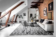 If you want a Scandinavian living room design, there are some things that you should consider and implement for this interior style. Wood as a material has an important role as well as light colors, because they give the living… Continue Reading → Room Design, Loft Living, Gravity Home, Home, Monochrome Living Room, Living Room Scandinavian, Loft Spaces, Scandinavian Loft, Scandinavian Design Living Room