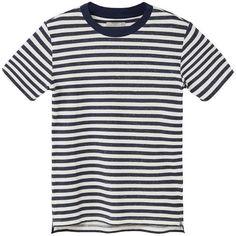 MANGO MAN Striped Cotton T-Shirt ($30) ❤ liked on Polyvore featuring men's fashion, men's clothing, men's shirts, men's t-shirts, boys, men, tees, tops, mens striped shirt and mens t shirts