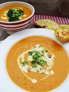 Rote Linsen – Kokosmilch – Suppe: