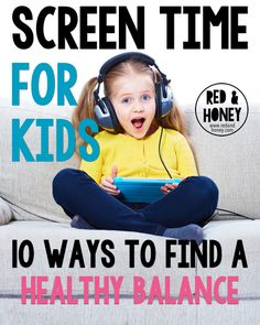 It can be hard to create appropriate amounts of screen time for kids, especially older ones. Here are 10 tips for setting limits and offering fun alternatives. Gentle Parenting, Kids And Parenting, Parenting Hacks, Parenting Articles, Screen Time For Kids, Raising Daughters, Healthy Kids, Family Life, Teaching Kids