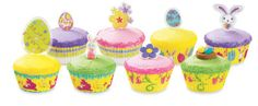 Pastel Rainbow of #Easter #Cupcakes
