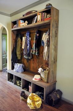 Oh, to have a mud room instead of muddy area inside the door/living room!