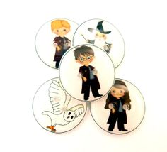 5 Wizard Buttons. Handmade Buttons.   3/4 or 20 by buttonsbyrobin, $9.99
