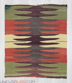 """Vintage small kilim rug from Afyon region of Turkey. In very good condition. Approximately 35-45 years old Width: 3' 1"""" - Length: 3' 7"""" Modern and Decorative Kilims"""