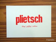 Buchdruck Plattdüütsch - Typoladen – handgemacht & handgedruckt