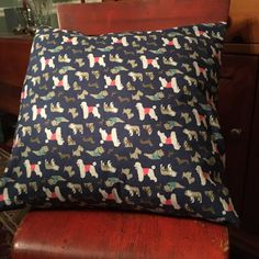 Dog Pillow Case & Insert by PineconesCountryHome on Etsy https://www.etsy.com/listing/501751043/dog-pillow-case-insert