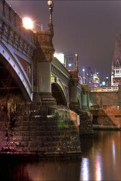 Princes Bridge,Melbourne- our mums rowing team row under the bridge every week. Gorgeous :)