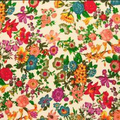 Summer flowers 100% cotton canvas
