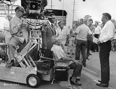 """Director: William Wyler on the set of """"The Liberation of L.B. Jones"""" (1970)."""