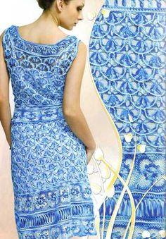 Irish Lace Cocktail Dress Flowers Crochet Patterns Book Top Magazine Duplet 136   eBay