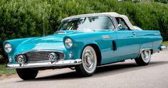 1956 Ford Thunderbird Camper Boat, Bus Camper, Jaguar Xj13, Vintage Cars, Antique Cars, Learning To Drive, American Classic Cars, Ford Thunderbird, Car Ford