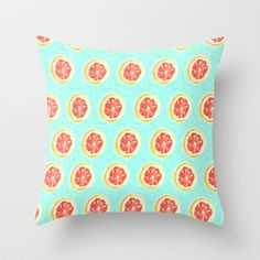 Grapefruit II Throw Pillow by Bouffants and Broken Hearts - $20.00