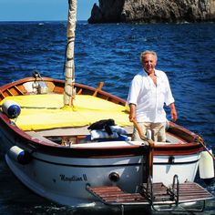 "Wooden gozzo "" Mergellina II"" driven by Captain Antonio"