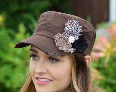 Agobiados de sombrero tan de mujer sombrero por LaBellaRoseBoutique