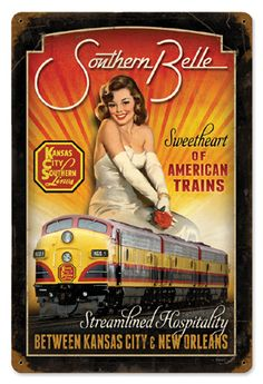"""""""Southern Belle"""" Railroad Poster"""