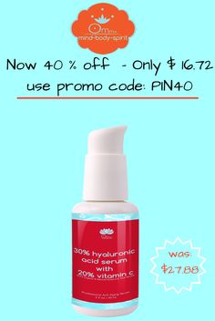 Limit 1 order per person. http://www.ommmbeautyshop.com/products/pure-hyaluronic-acid-serum-with-retinol-the-clinically-proven-fountain-of-youth