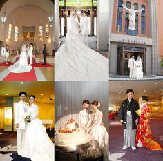 ■2012.6.30 カトリック金沢教会の素敵なお二人です■  June bride 最後の日の教会の挙式です。  お二人の笑顔が最高でした。  披露宴はANAクラウンプラザホテル金沢でした。