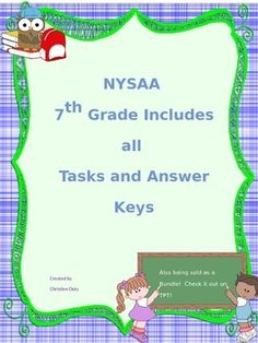 Worksheets Nysaa Worksheets pinterest the worlds catalog of ideas nysaa 7th grade ela and math tasks 1 5 answer keys all included