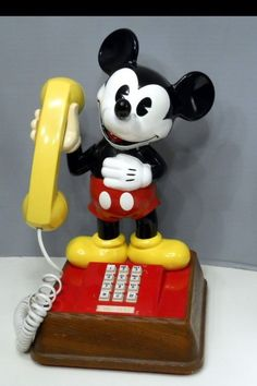 Mickey Mouse Phone  STILL HAVE THIS!  WOO HOO