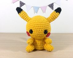 Pikachu Amigurumi Crochet Plush Doll