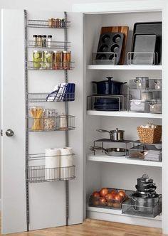 Details About Sturdy Pantry Kitchen Organizer Over Door Steel Hanging Home Storage  Shelf Rack