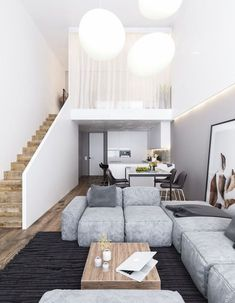 Trendy home interior modern house design loft Loft Design, Tiny House Design, Modern House Design, Modern Interior Design, Interior Architecture, Interior Ideas, Design Design, Minimalist Home Design, Contemporary Design