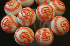 SF Giants cake pops