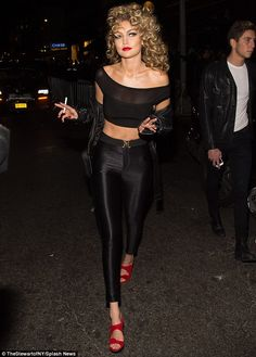 She's the one that you want: GiGi managed to channel all of Sandy's sass as she arrived at...